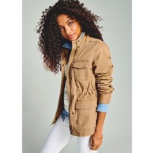 Utility Jacket Military Army Coat Lightweight Tan